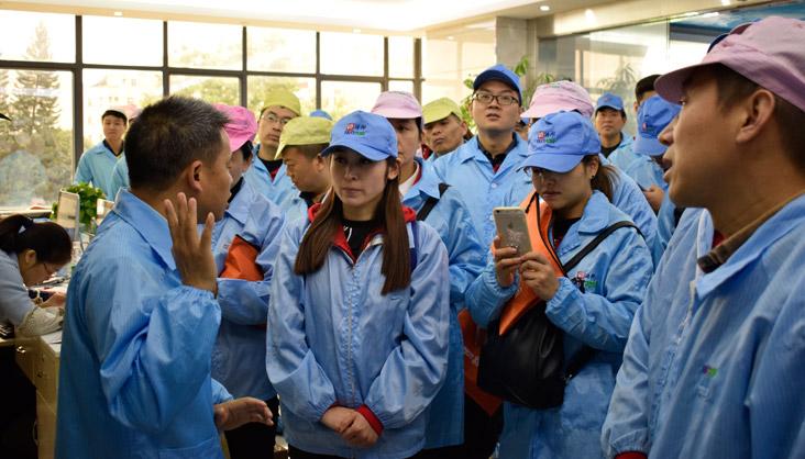 阿里巴巴客户到靖邦厂房参观学习smt技术2